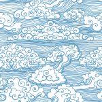 MSI-0010   和風な雲の柄