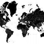 MA-0009   The World's Map (from かべいろ.com)