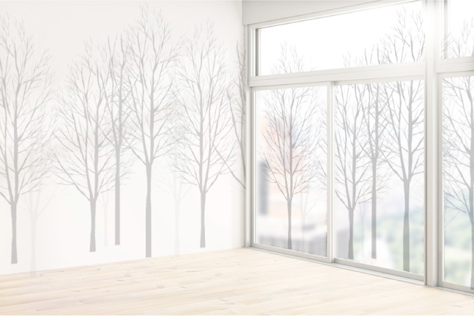 窓と壁が繋がったデザイン